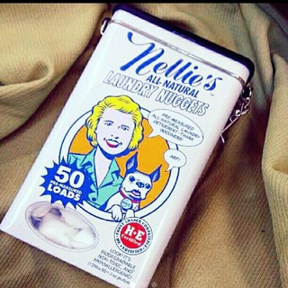 【缶のみ+α】◇Nellie's 洗濯洗剤 レトロ缶入り ランドリーナゲット(洗剤/柔軟剤)