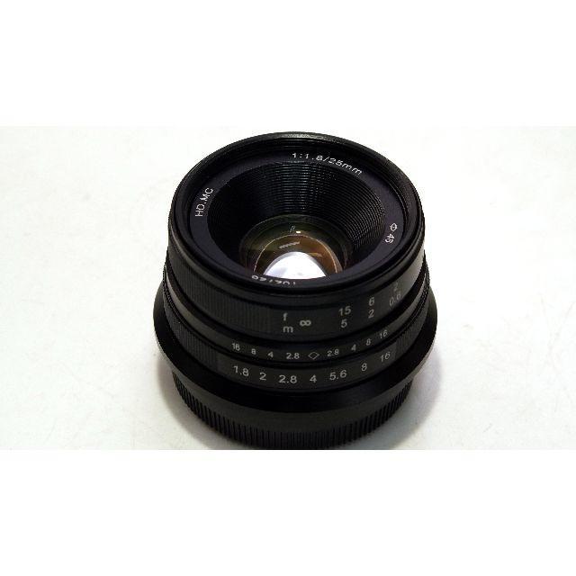 富士フイルム(フジフイルム)のmuk CL25FX 中華レンズ Chinar 25mm f1.8 FX スマホ/家電/カメラのカメラ(レンズ(単焦点))の商品写真