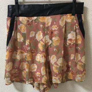 シマムラ(しまむら)のウエストレザー 花柄キュロットスカート(キュロット)