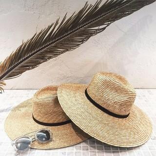 ルームサンマルロクコンテンポラリー(room306 CONTEMPORARY)の【人気モデル】room306 ワイドストローハット 中折れ帽(麦わら帽子/ストローハット)