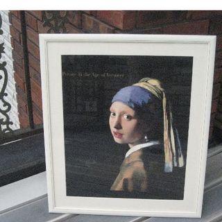 フェルメールの「青いターバンの少女」2000年大阪市立美術館 ポスター(絵画/タペストリー)