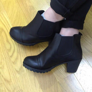 サイドゴア☆FA17、黒25cm再入荷(ブーツ)