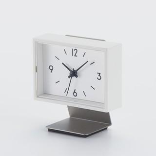 MUJI (無印良品) - 【新品未使用】無印良品 駅の時計 ミニ スタンド付