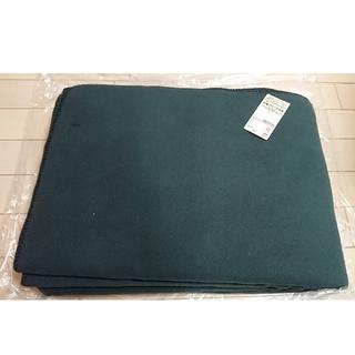 ムジルシリョウヒン(MUJI (無印良品))の無印 片面フリース毛布 シングル/グリーン 140×200cm(毛布)