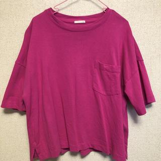 ジーユー(GU)の990T(ピンク)(Tシャツ(長袖/七分))