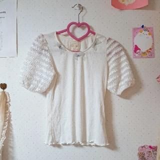 グリモワール(Grimoire)のリボン パフスリーブ トップス(Tシャツ(半袖/袖なし))