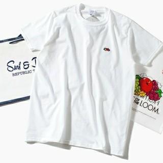 ロンハーマン(Ron Herman)のFruit Of The Loom ロゴTシャツ 白M フルーツオブザルーム(Tシャツ/カットソー(半袖/袖なし))