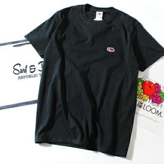 ロンハーマン(Ron Herman)のFruit Of The Loom ロゴTシャツ 黒M フルーツオブザルーム(Tシャツ/カットソー(半袖/袖なし))