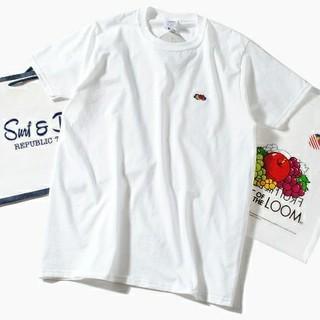 ロンハーマン(Ron Herman)のFruit Of The Loom ロゴTシャツ 白L フルーツオブザルーム(Tシャツ/カットソー(半袖/袖なし))