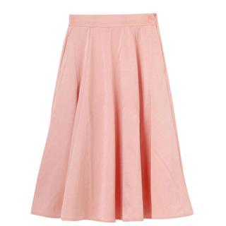 メリージェニー(merry jenny)のサテンボンディングフレアスカート(ひざ丈スカート)