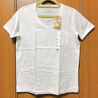 ムジルシリョウヒン(MUJI (無印良品))の【新品未使用】無印良品 Vネック半袖Tシャツ(Tシャツ(半袖/袖なし))