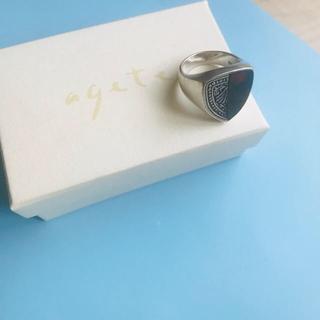 アガット(agete)のagete アガット マーク&瑪瑙 シルバー リング(リング(指輪))
