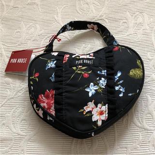 ピンクハウス(PINK HOUSE)のピンクハウス エコバッグ 鞄 トート ハート 薔薇 可愛い インゲボルグ 美品(エコバッグ)