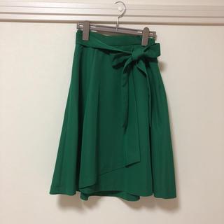 クチュールブローチ(Couture Brooch)のクチュールブローチ グリーンスカート(ひざ丈スカート)