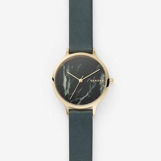 スカーゲン(SKAGEN)のSKAGEN 2018 秋新作 腕時計 ANITA 大理石 グリーン(腕時計)