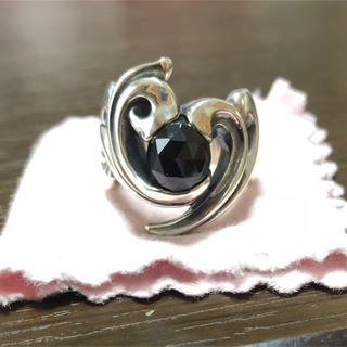 エムズコレクション(M's collection)のエムズコレクション  シルバーリング ブラックスピネル ハート 19号 メンズ(リング(指輪))