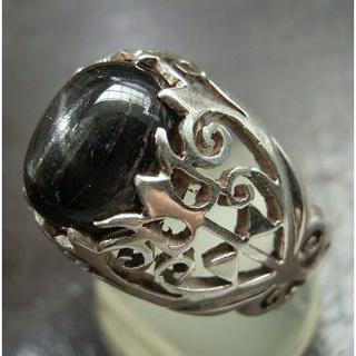 14号 silver925*ブラックスターリング(リング(指輪))