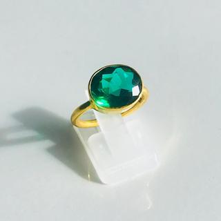 グリーンクォーツ☆天然石☆指輪☆キャンディリング☆インドジュエリー 9号(リング(指輪))