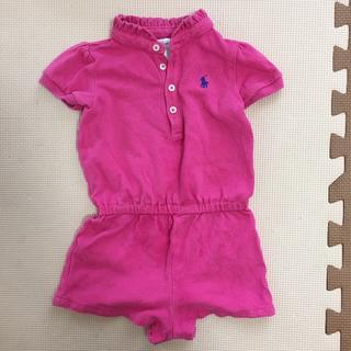 ラルフローレン(Ralph Lauren)のラルフローレン 85 ピンク  ワンピース オールインワン ポロシャツ(カバーオール)