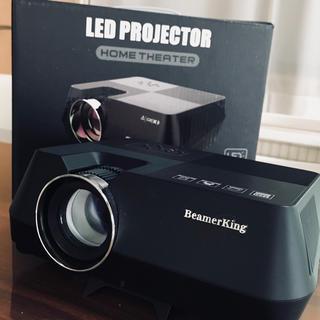 【値下げ】BeamerKingプロジェクター 1080P HD 2200ルーメン(プロジェクター)