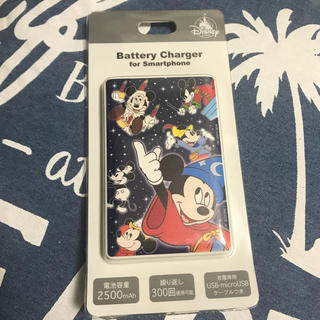 ディズニー(Disney)の【新品】ディズニーストア 90周年 ミッキー モバイルバッテリーチャージャー(バッテリー/充電器)