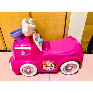 ディズニー(Disney)のDisney プリンセス メロディー 押し車 ディズニー 乗用玩具 ピンク(手押し車/カタカタ)