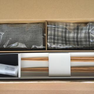 ウニコ(unico)のunico 箸、箸置き、ランチョンマット 2組(テーブル用品)