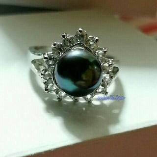 淡水ファッションリング(グリーンブラック)(リング(指輪))