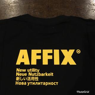 コムデギャルソン(COMME des GARCONS)の新品 Affix works ロゴ Tシャツ ブラック サイズ XL(Tシャツ/カットソー(半袖/袖なし))