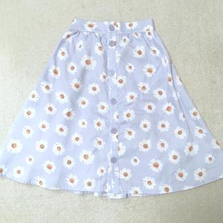 メリージェニー(merry jenny)のマーガレット柄フロントボタンスカート(ひざ丈スカート)