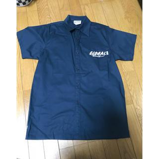 グローバル(GLOBAL)の[美品] GLOBAL ネイビー 半袖シャツ(シャツ)