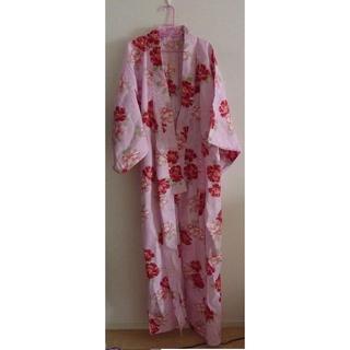 アニタアレンバーグ(ANITA ARENBERG)のエティック 浴衣 ピンク 牡丹 赤 帯紫 セット アニタアレンバーグ(浴衣)