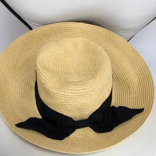 シマムラ(しまむら)の麦わら帽子 リボン ハット(麦わら帽子/ストローハット)