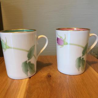 コウランシャ(香蘭社)のペアマグカップ  ブライトローズ(グラス/カップ)