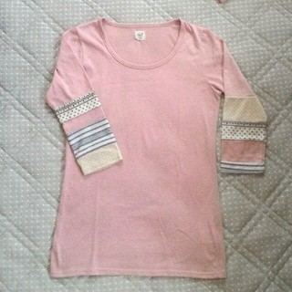 シーエルエヌ(C. L. N)の使用感有  七分袖 袖パッチワークカットソー(Tシャツ(長袖/七分))