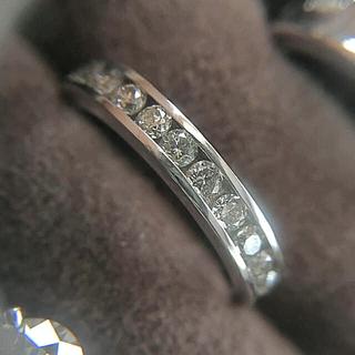 ジュエリーツツミ(JEWELRY TSUTSUMI)のK18 WG ダイヤモンド エタニティリング(リング(指輪))