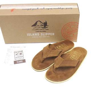 アイランドスリッパ(ISLAND SLIPPER)の18年物 ISLAND SLIPPER スエード トング サンダル US:5(サンダル)