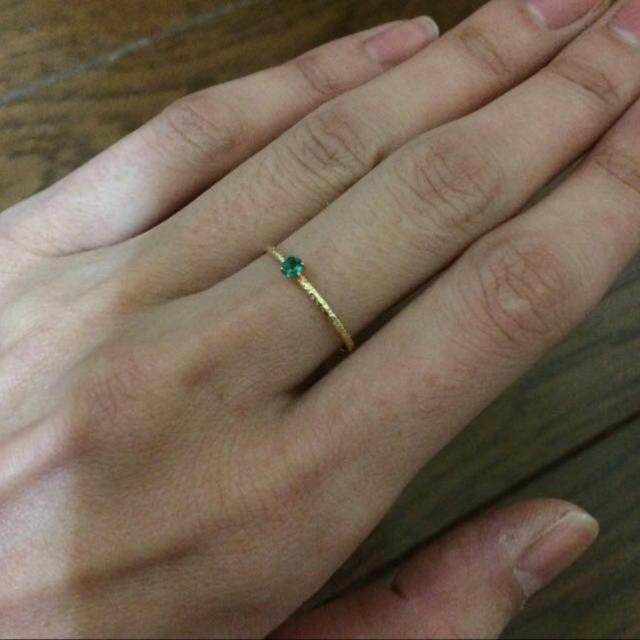 LAZY SUSAN(レイジースーザン)のK18ゴールド エメラルドリング レディースのアクセサリー(リング(指輪))の商品写真