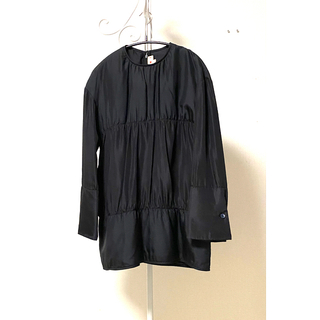 マルニ(Marni)のMARNI  マルニ  シルク中綿入りブラウス  ブラック 38(シャツ/ブラウス(長袖/七分))