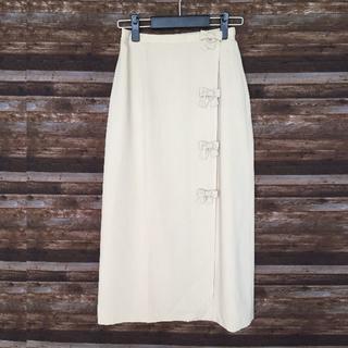 ギャラリービスコンティ(GALLERY VISCONTI)のギャラリービスコンティ リボン付ロングスカート9(ロングスカート)