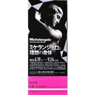 ミケランジェロと理想の身体 チケット 使用済み(美術館/博物館)