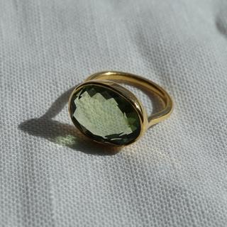 ☆*:.。. クォーツのリング(ペリドットカラー) .。.:*☆(リング(指輪))
