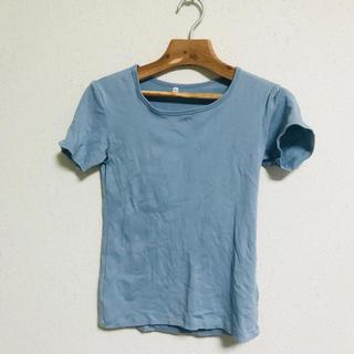 ムジルシリョウヒン(MUJI (無印良品))のTシャツ 無印 無印良品 アイスブルー(Tシャツ(半袖/袖なし))