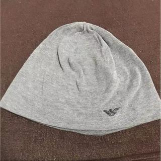 エンポリオアルマーニ(Emporio Armani)のアルマーニ 帽子 ニット帽 グレー(ニット帽/ビーニー)