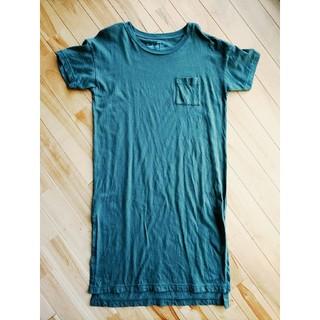 ムジルシリョウヒン(MUJI (無印良品))の無印良品 ロングTシャツ ワンピース カットソー カーキ M~L(ロングワンピース/マキシワンピース)