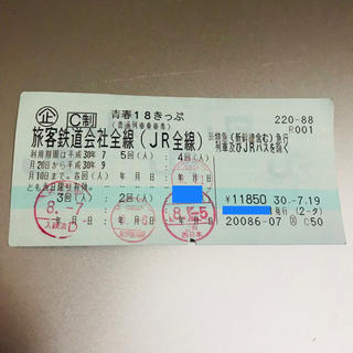 青春18きっぷ 1回分(鉄道乗車券)