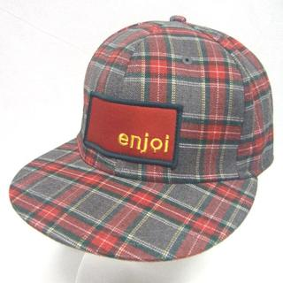 エンジョイ(enjoi)のエンジョイ enjoi キャップ 帽子 チェック柄 パンダ スケーター L/XL(キャップ)