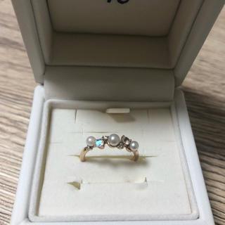 ヨンドシー(4℃)の4℃ ファッションリング ダイヤ パール(リング(指輪))