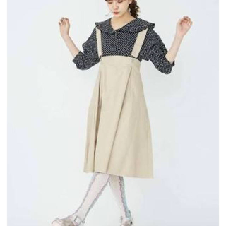 メリージェニー(merry jenny)のmerry jenny ツイルサロペットスカート(ひざ丈スカート)