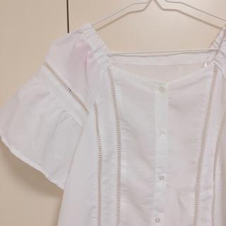 ジーユー(GU)のGU ハシゴレースブラウス(シャツ/ブラウス(半袖/袖なし))